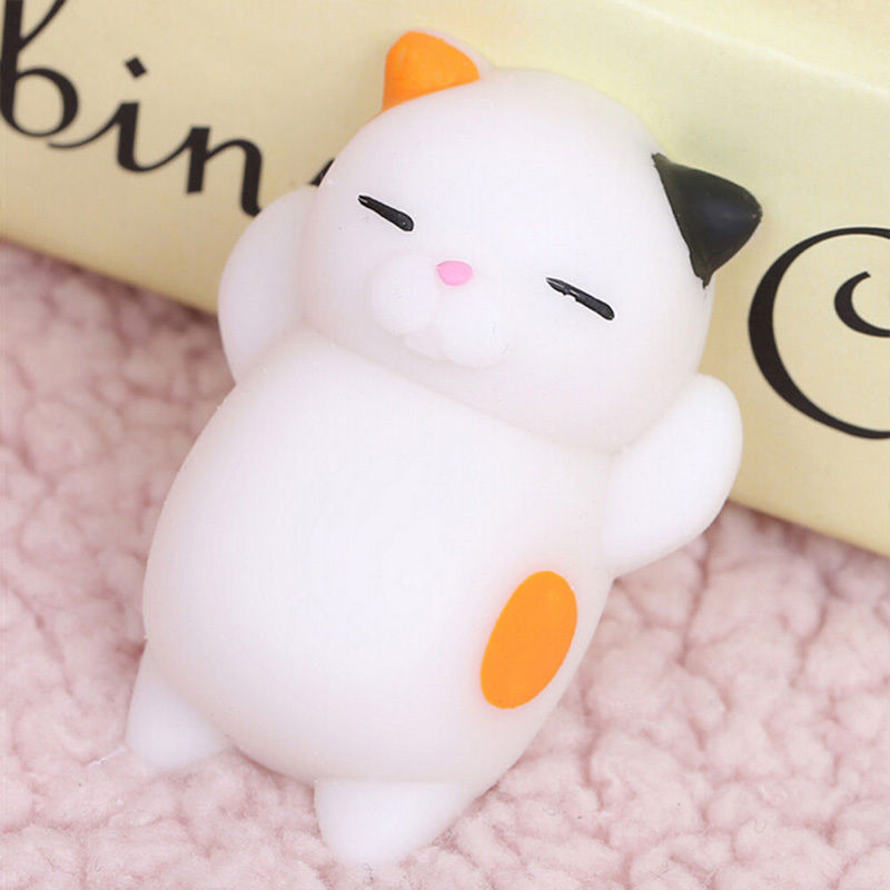 2x lovely squishy cat squeeze healing fun kids kawaii toy stress reliever decor