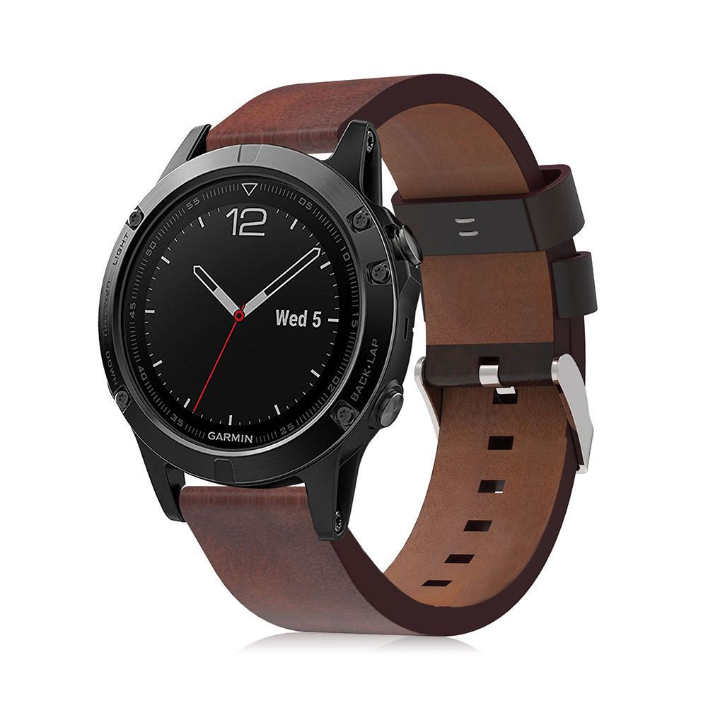 New brown leather watch band wrist strap for garmin fenix 5 forerunner 935 22mm ebay for Watches garmin