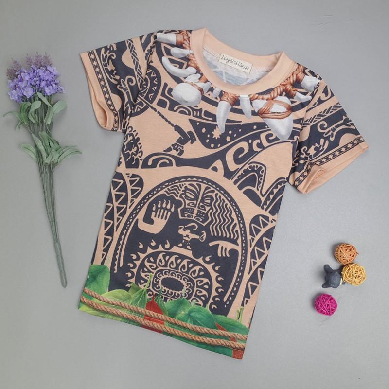 Summer kids boys moana maui t shirt tees pants pyjamas for Maui shirt tattoo