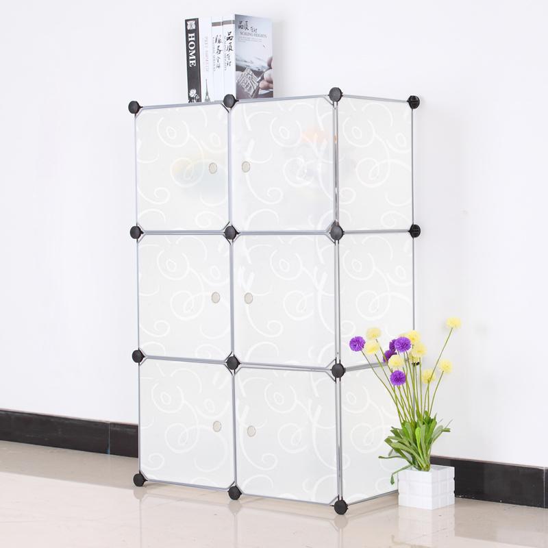 diy kleiderschrank schrank steckregal regalsystem standregal badregal mit t ren ebay. Black Bedroom Furniture Sets. Home Design Ideas