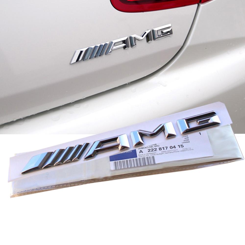 Logo Amg Mercedes : 3d chrome amg emblem badge rear trunk decal sticker a b c e s cl sl ml clk cls ebay ~ Nature-et-papiers.com Idées de Décoration