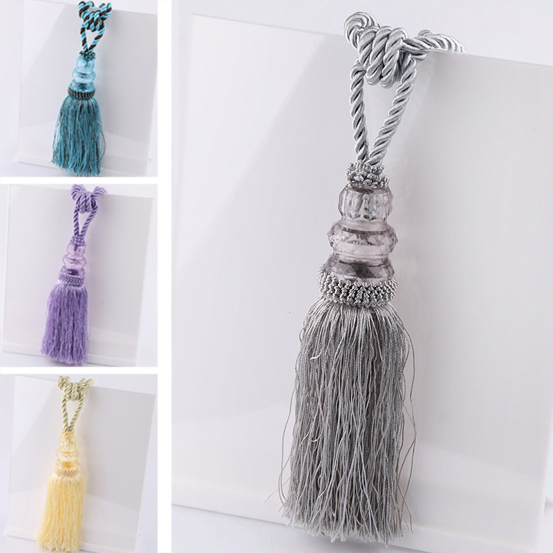 Curtain Tiebacks Smooth Tassel Drape Holdbacks Decorative