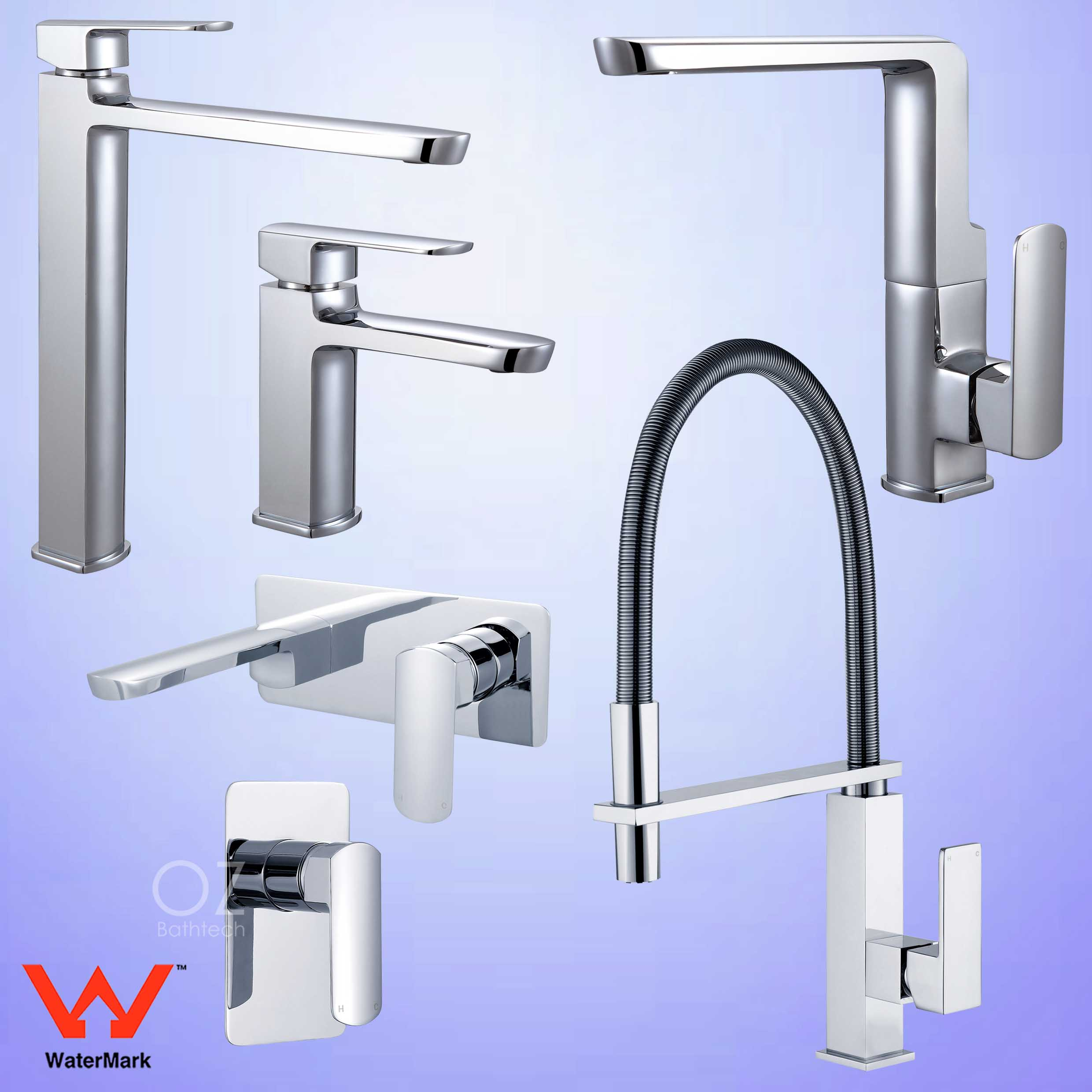 Pull Out Shower Square Tall Basin Mixer Kitchen/Laundry