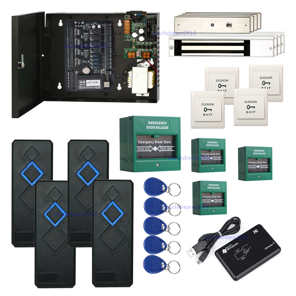 Zk C3 400 Access Control Systems Kit Break Glass For Emergency Exit