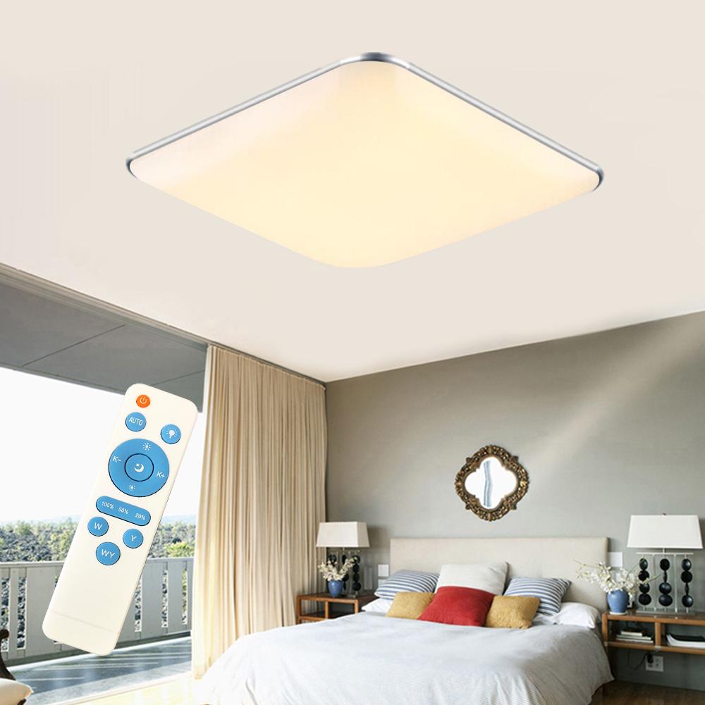 24w led dimmbar deckenlampe deckenleuchte wandlampe flurlampe mit fernbedienung ebay. Black Bedroom Furniture Sets. Home Design Ideas