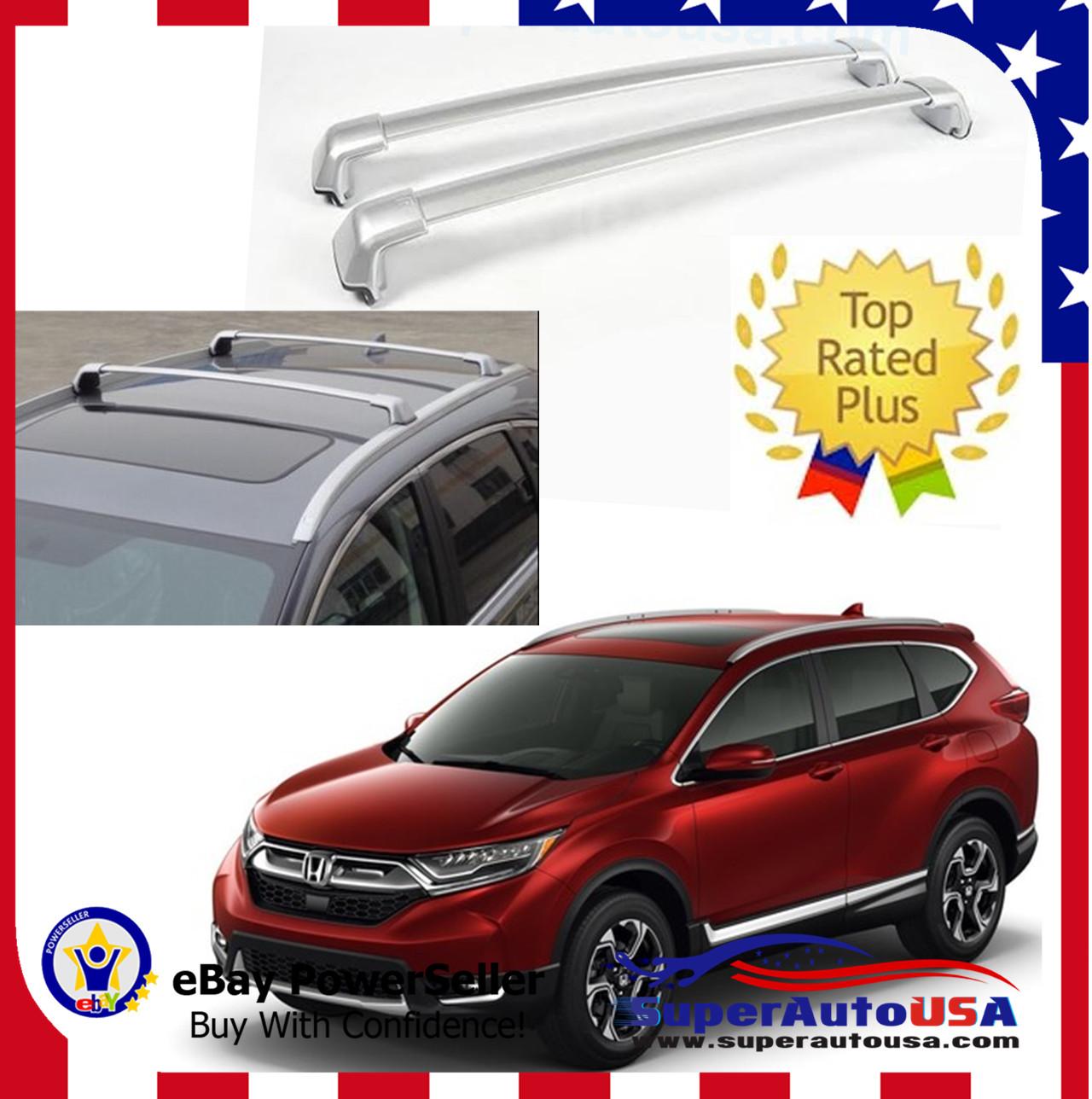 2 Pcs Silver Cross Bar For Honda Cr V 17 19 Aluminum Crossbar Roof Rail Rack Ebay