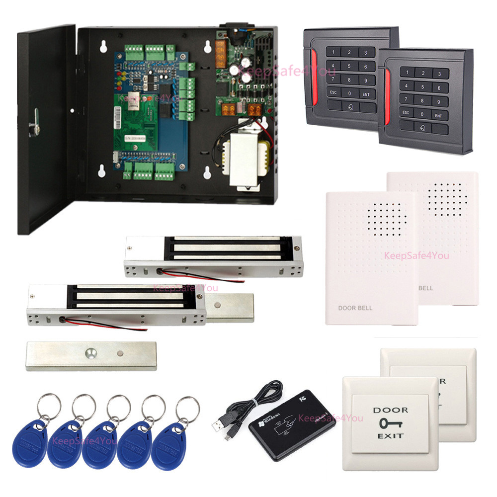 Access Control Lpsecurity Wg26 Rfid Ic Id Reader 2 Door Access Controller Access Control Panel Board For Enter Door No Power Supply Included Products Hot Sale
