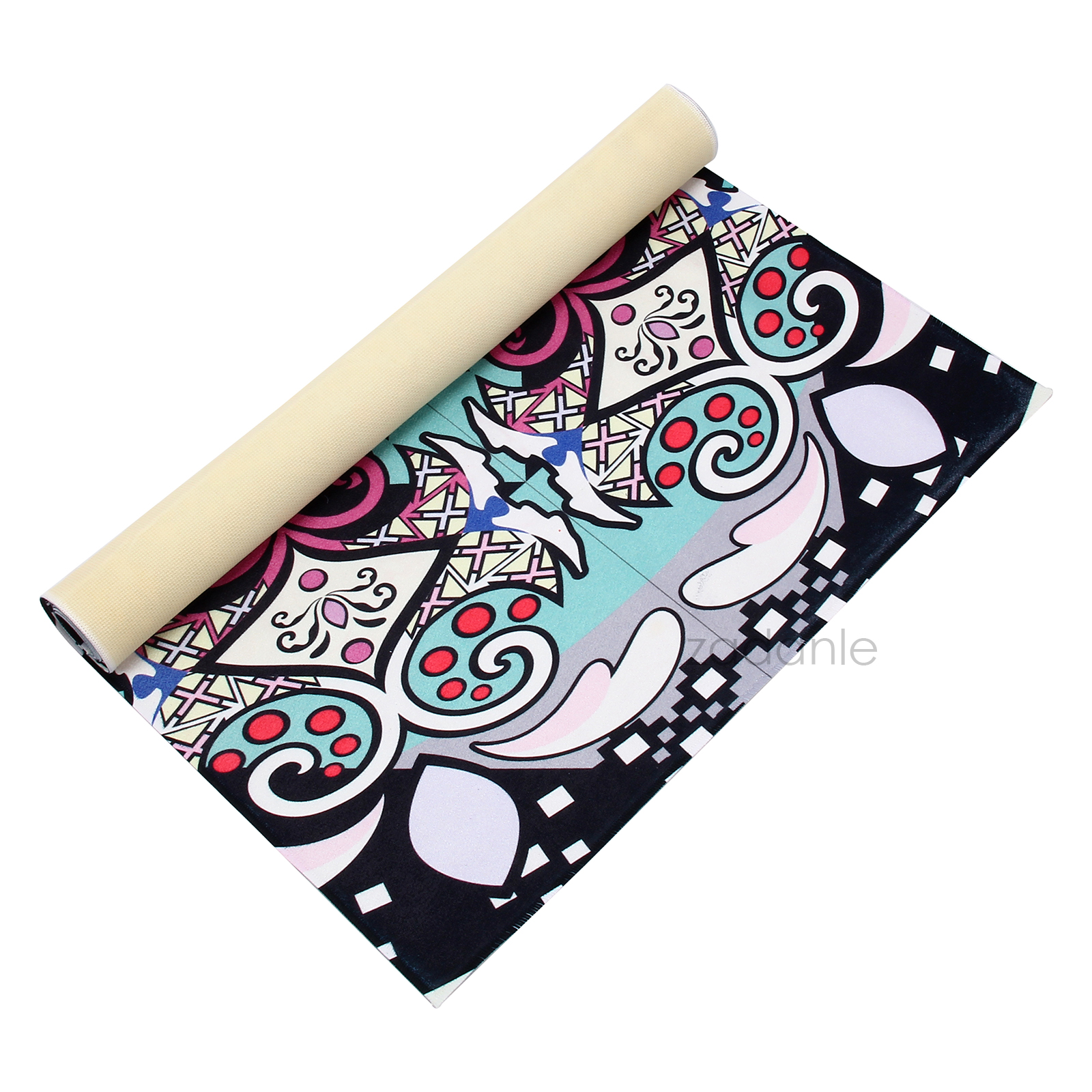 Hot Printed Colors Yoga Pilates Exercise Mat Eco
