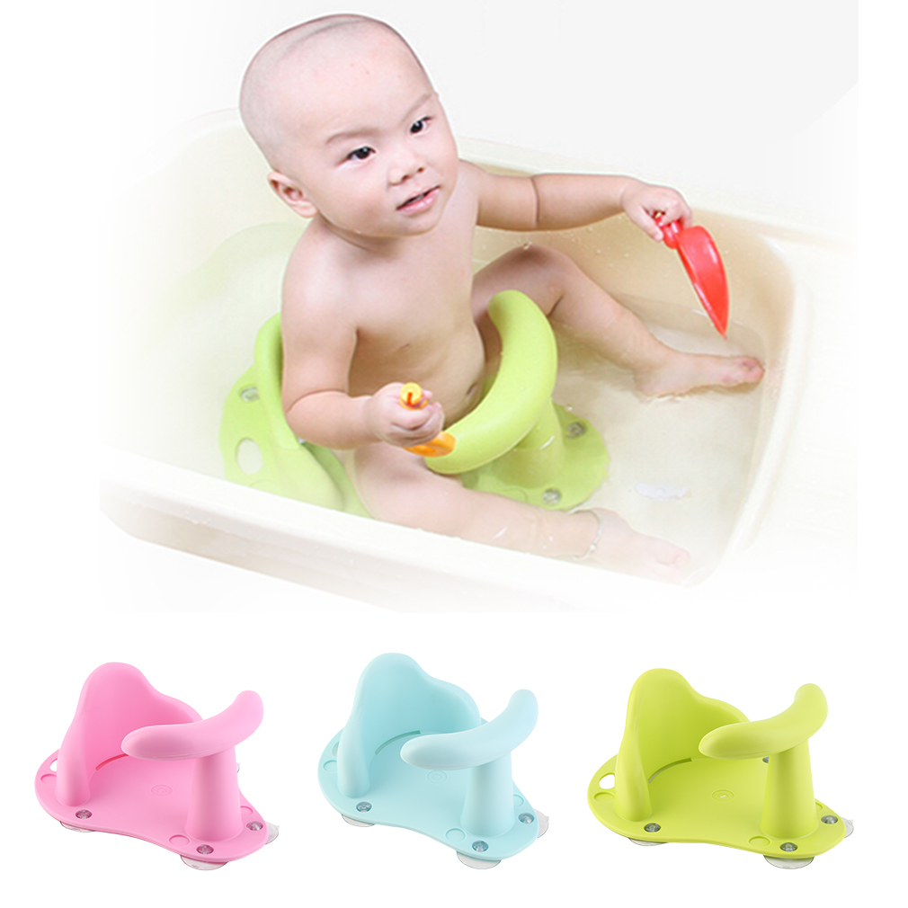 Anti Slip Safety Chair Baby Bath Seat Tub Ring Seat Kids Bathtub ...