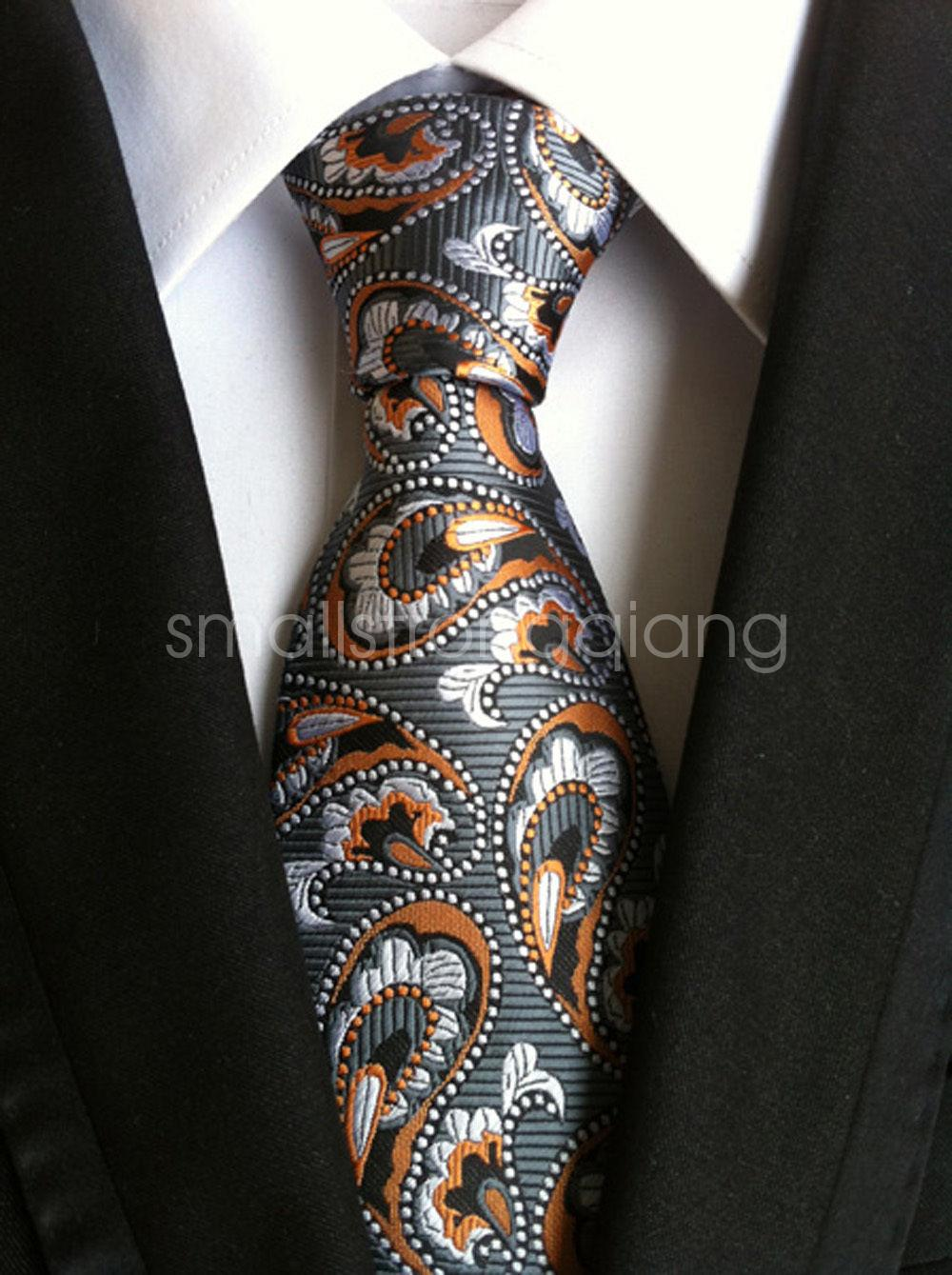 Mens 100/% New Silk Fashion Striped Paisley JACQUARD WOVEN Wedding Tie Necktie