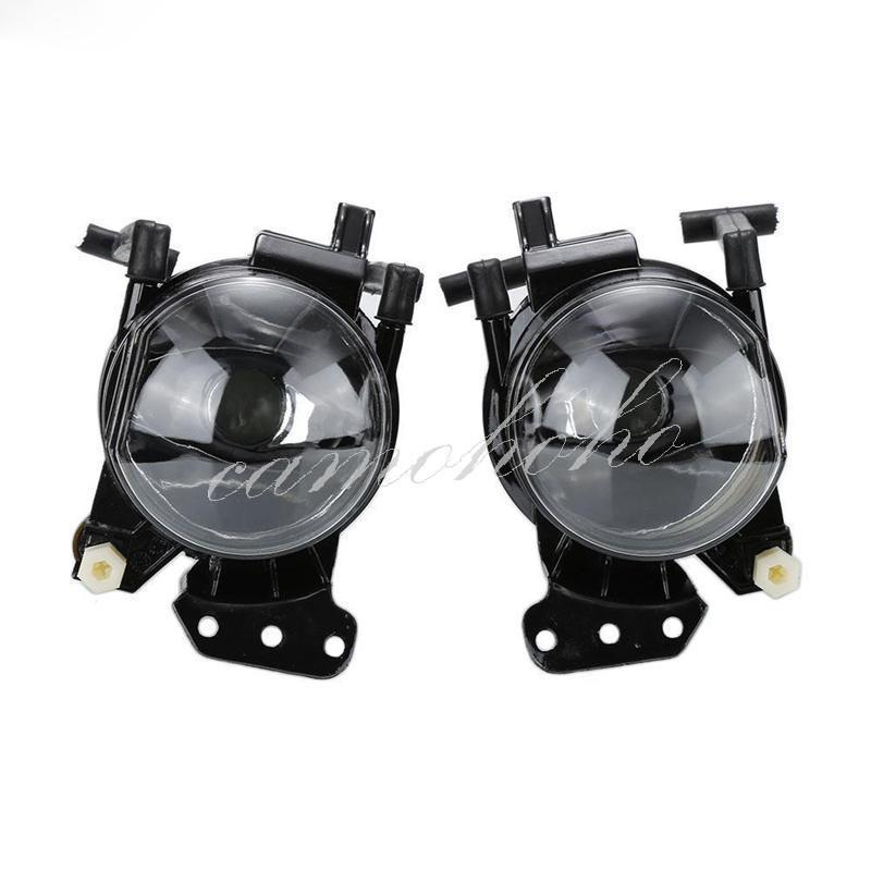 Pair Front Fog Lights Lamps Housing Clear For Bmw E60 E61