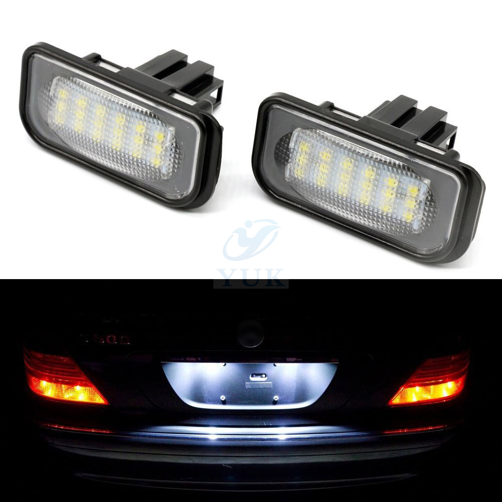 Error free 18 led license plate light for mercedes c230 for Led light for mercedes benz