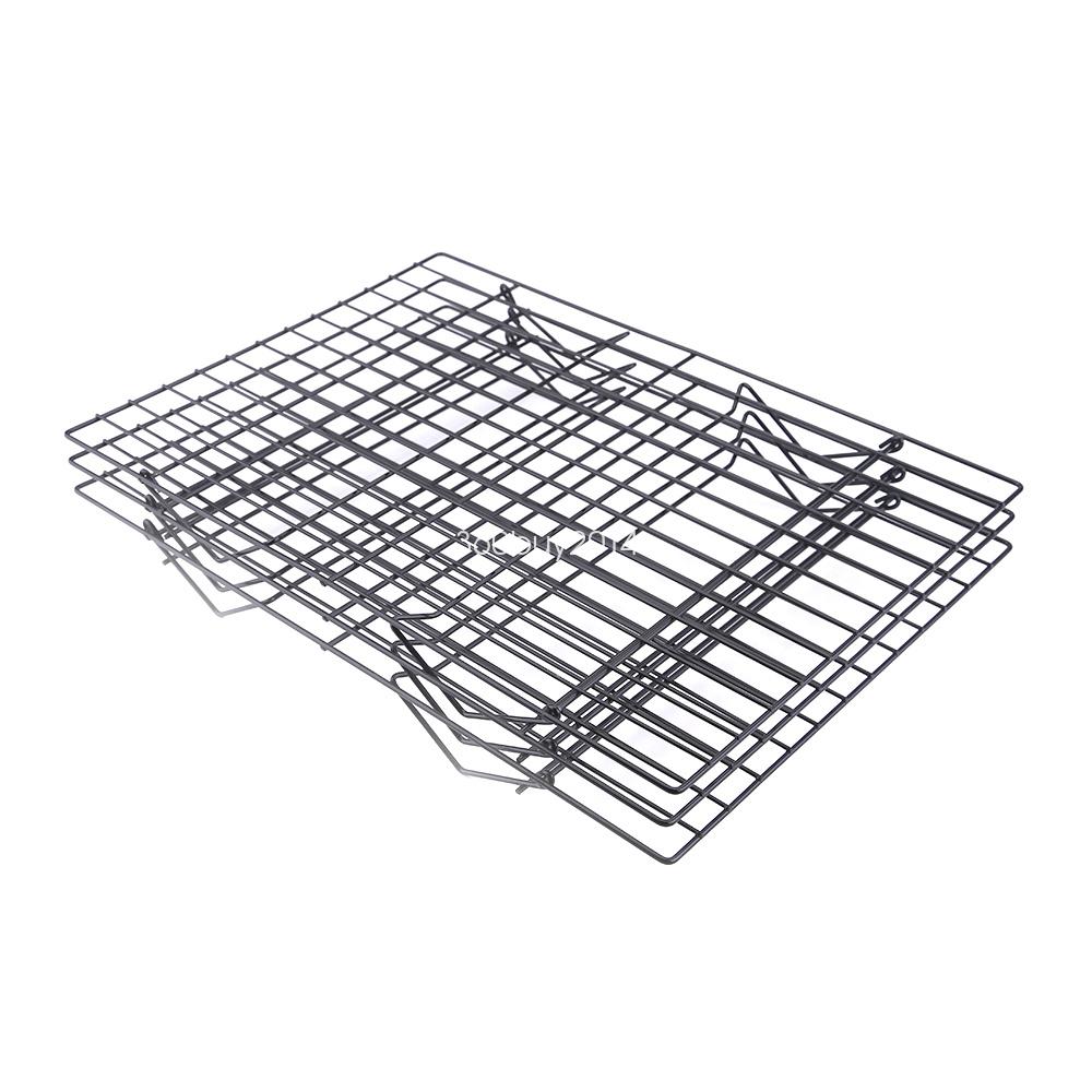 Küchengitter Schwarz ~ 39 5x25cm kuchengitter abkühlgitter gitter 3 stöckiges kuchen backblech kühlung