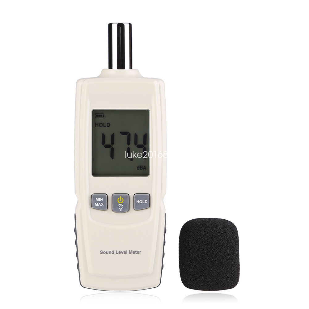 portable digital sound level meter 30 130db noise decibel. Black Bedroom Furniture Sets. Home Design Ideas
