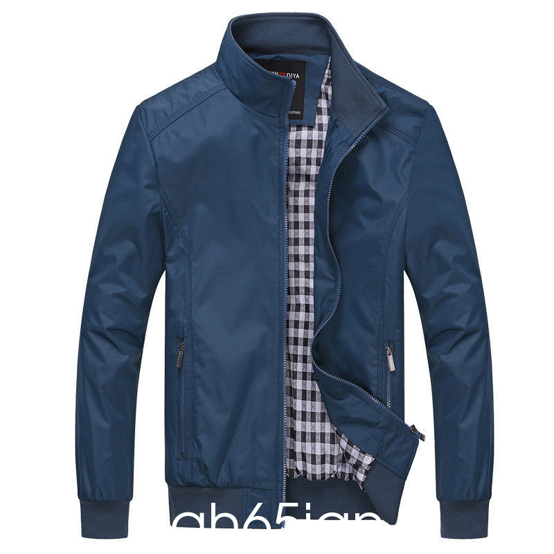 New-Men-039-s-Casual-Zip-Jacket-Coat-Sportswear-Bomber-Windproof-Outerwear-Plus-Size thumbnail 13