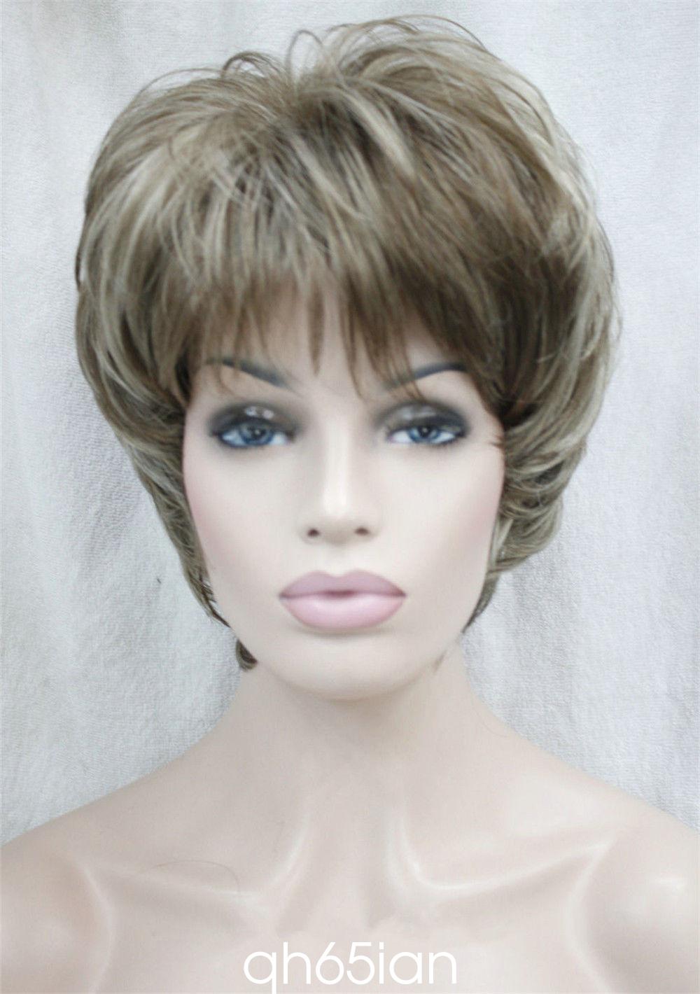 Ladies wig Straight Women Short Natural Hair Cosplay wigs ...