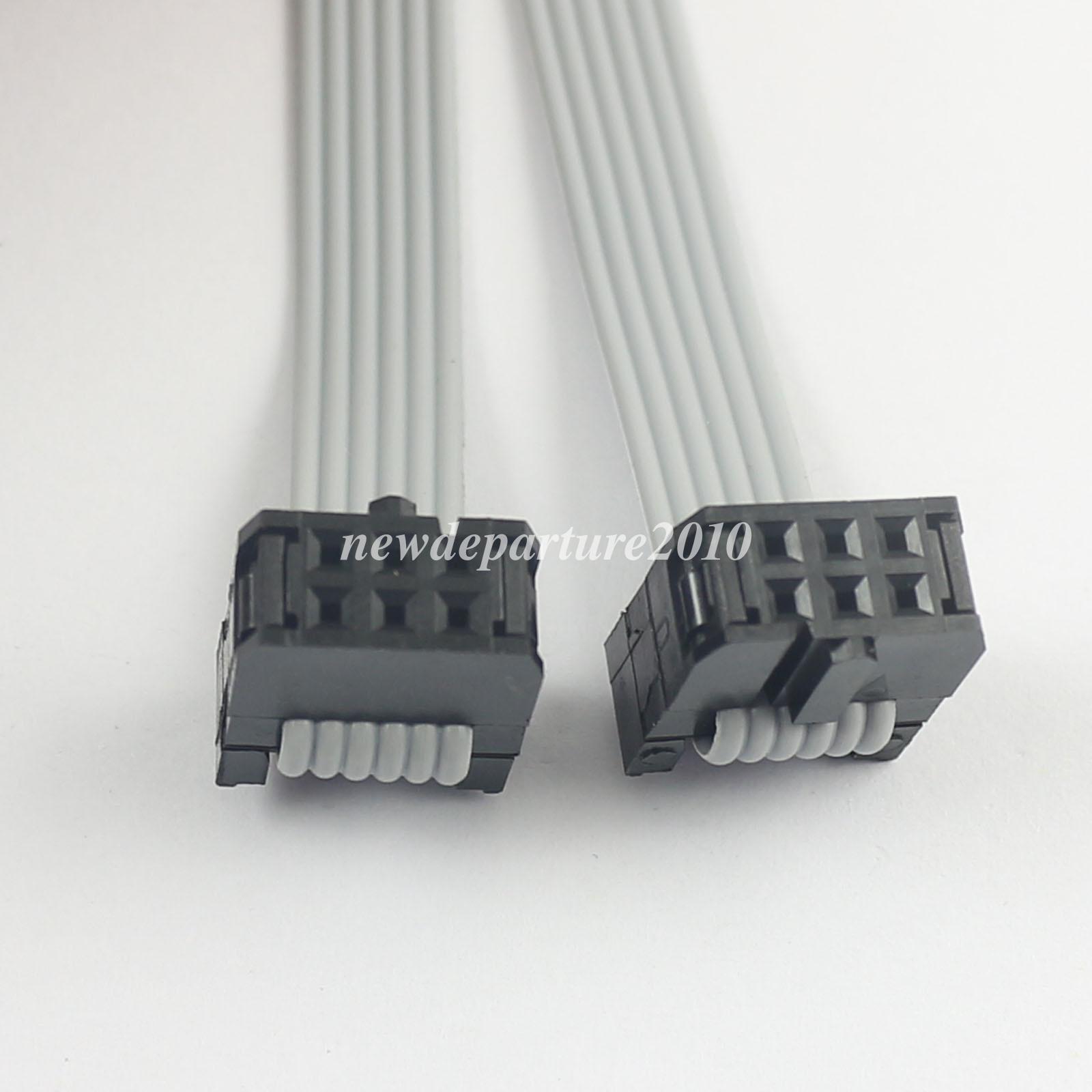 200Pcs 2.54mm Pitch 2x3 Pin 6 Pin 6 Wire IDC Flat Ribbon Cable ...