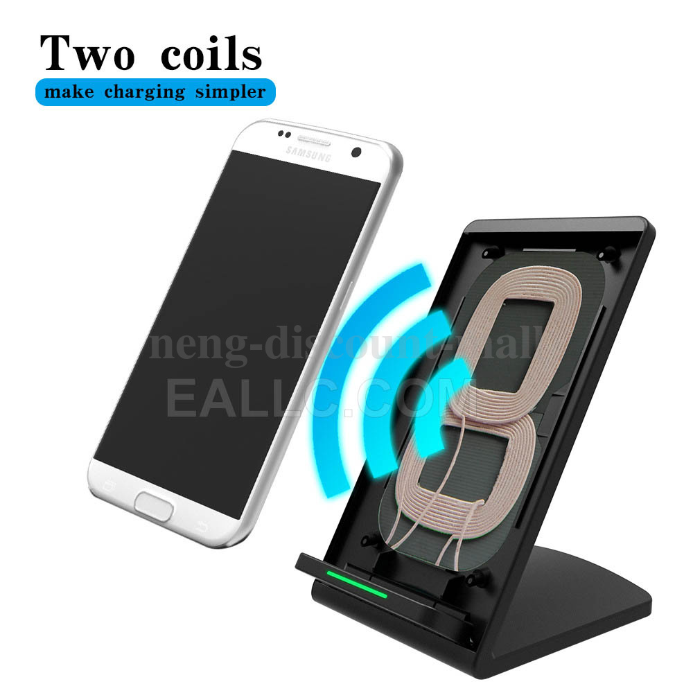 2coils qi wireless schnell ladestation induktive ladeger t f r samsung galaxy s8 ebay. Black Bedroom Furniture Sets. Home Design Ideas