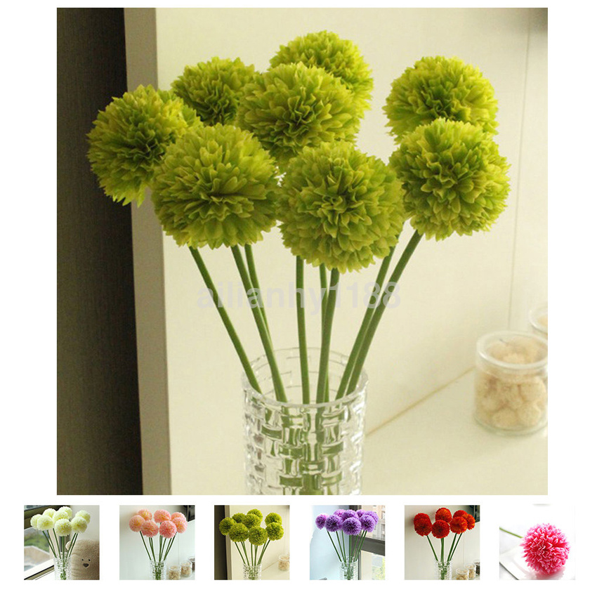 Wholesale Silk Flowers Artificial Flower Hydrangeas Bouquet Party Home Decor Hot
