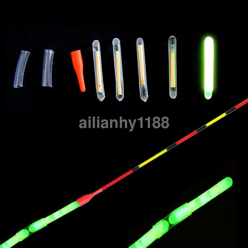 50pcs set fishing lights night fluorescent glow stick for Night fishing light setup