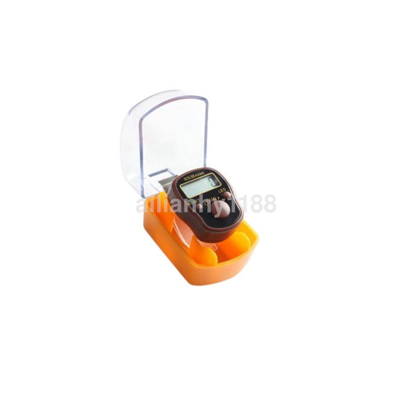 Knitting Row Counter For Finger : Au led digital light finger ring tally row counter