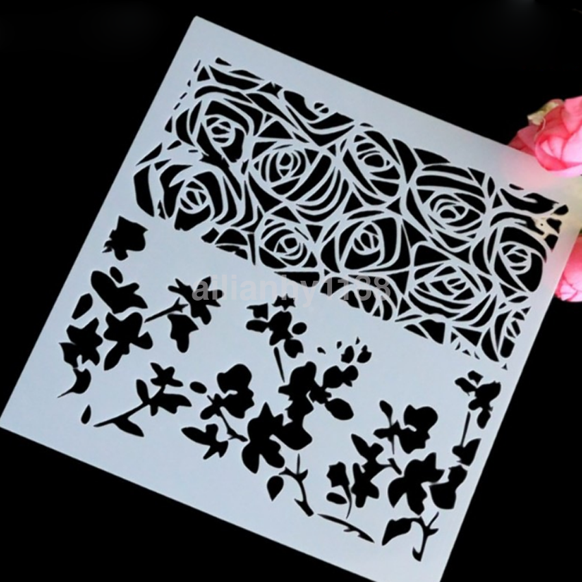Ca Layering Stencils Templates For Scrapbooking Drawing