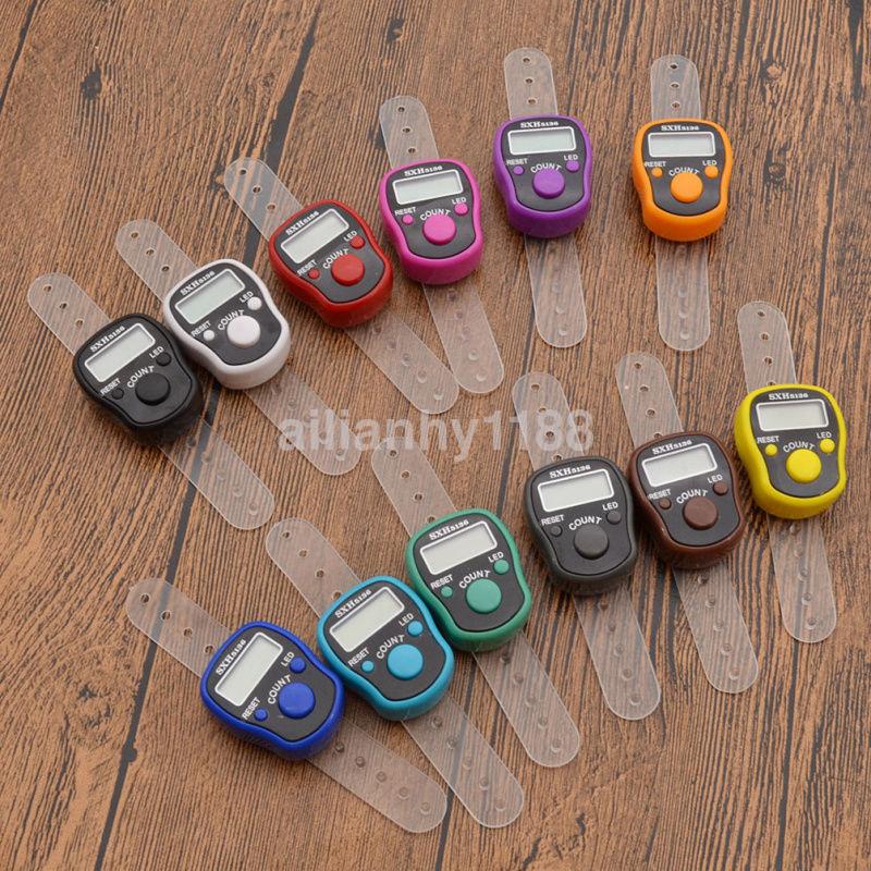 Knitting Row Counter For Finger : Ca led digital light finger ring tally row counter