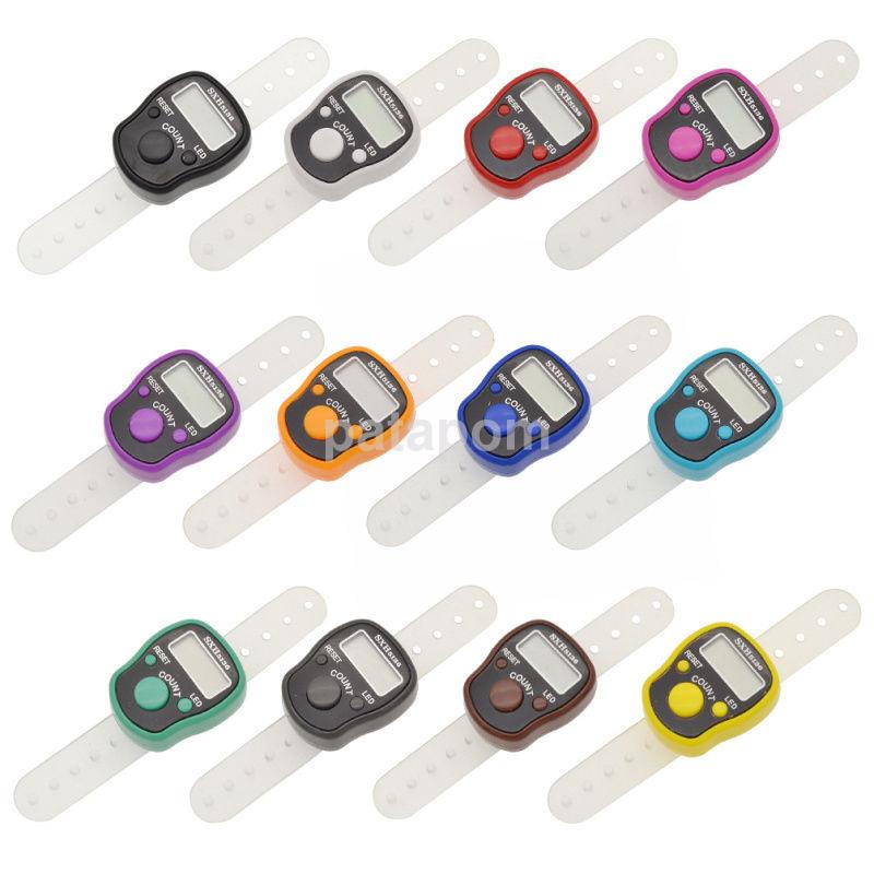 Knitting Row Counter For Finger : Digital finger ring tally counter hand held knitting row