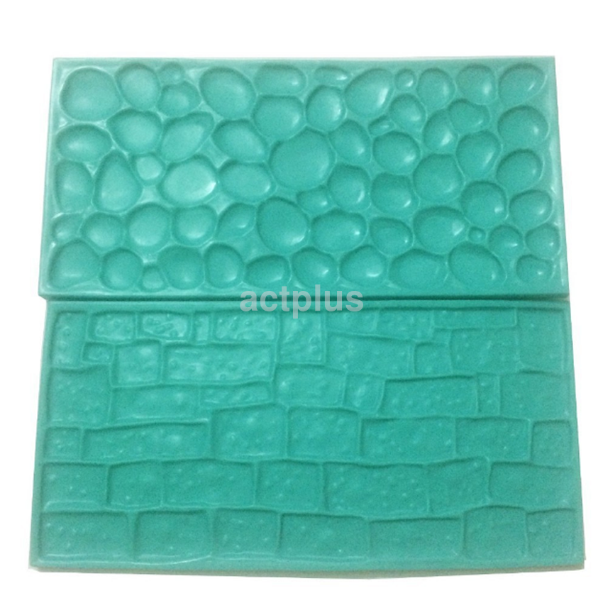 Hot Sale Wall Brick Stone Impression Mat Cake Embosser