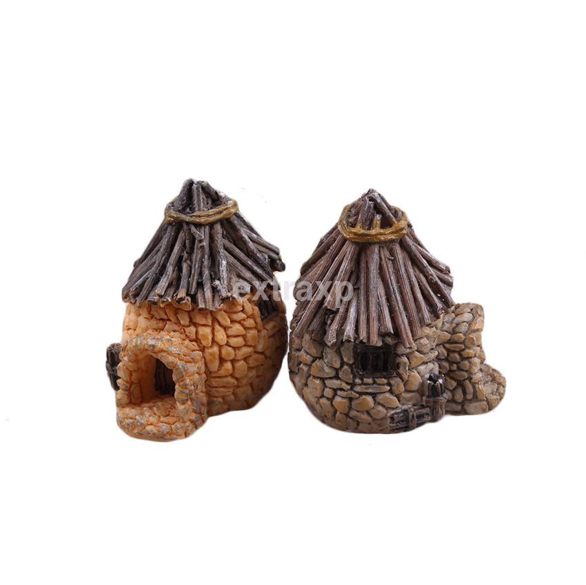 Diy new miniature fairy garden craft resin house micro for Diy miniature garden accessories
