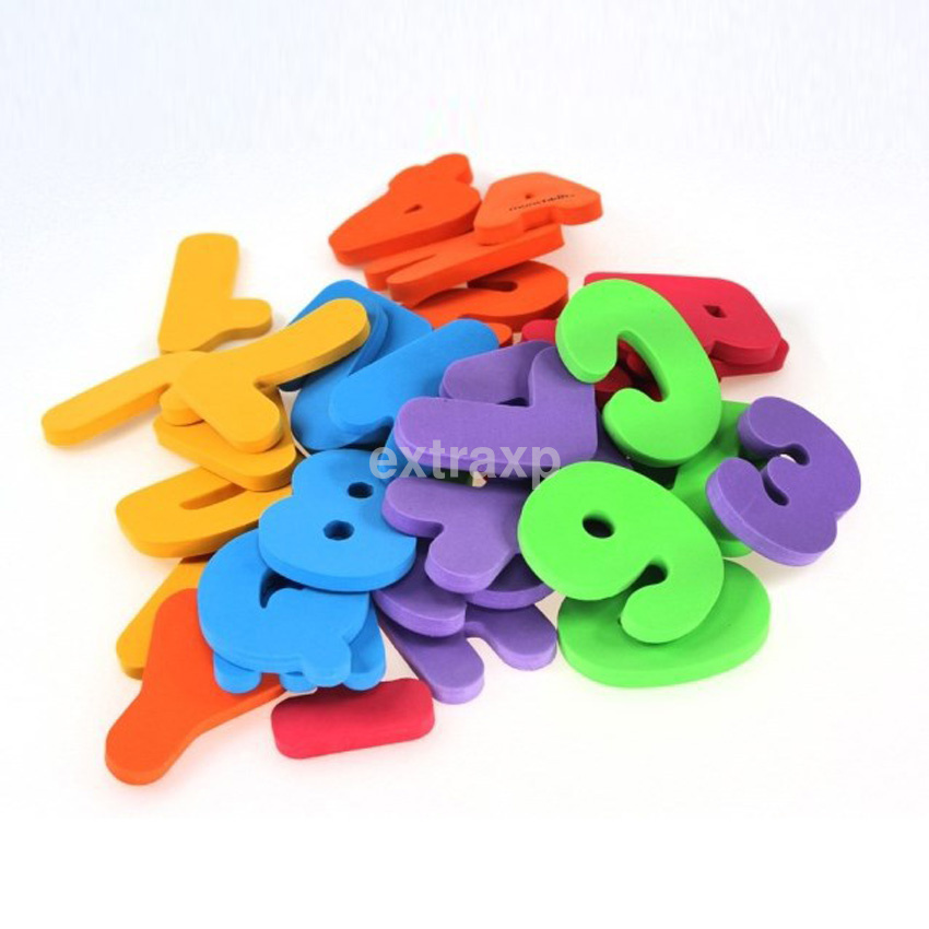 36x baby kids eva bath toys letters numbers stick on the. Black Bedroom Furniture Sets. Home Design Ideas
