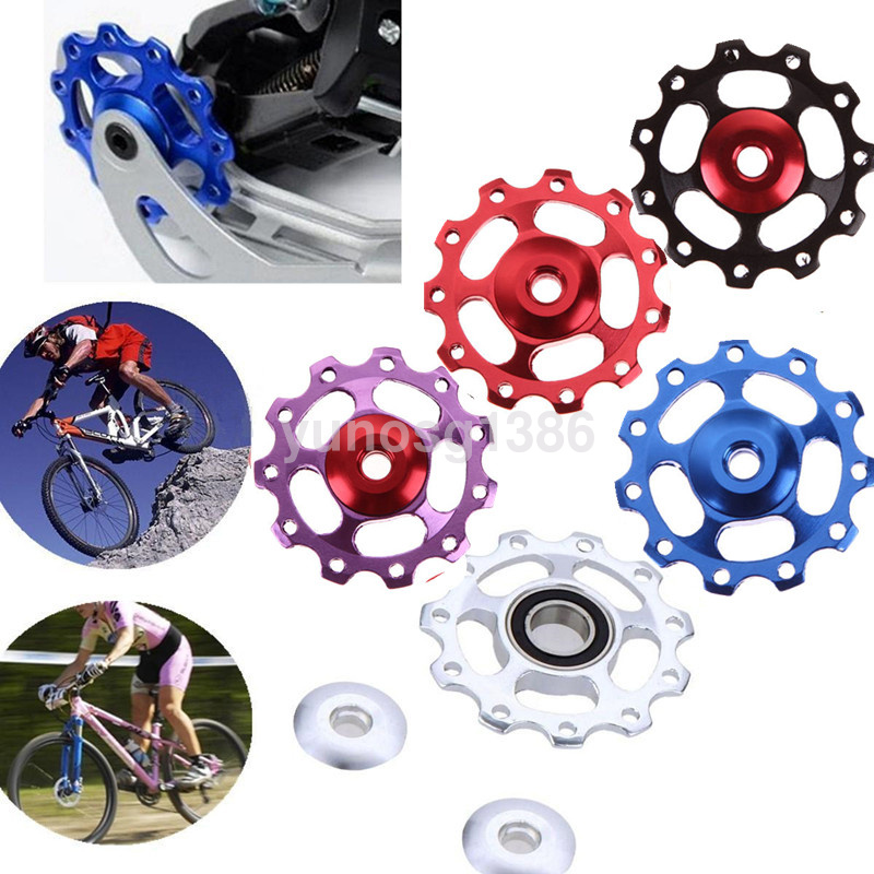 11T Bike Bicycle Aluminum Mountain Bike Wheel Rear Derailleur Pulley Bearing ~