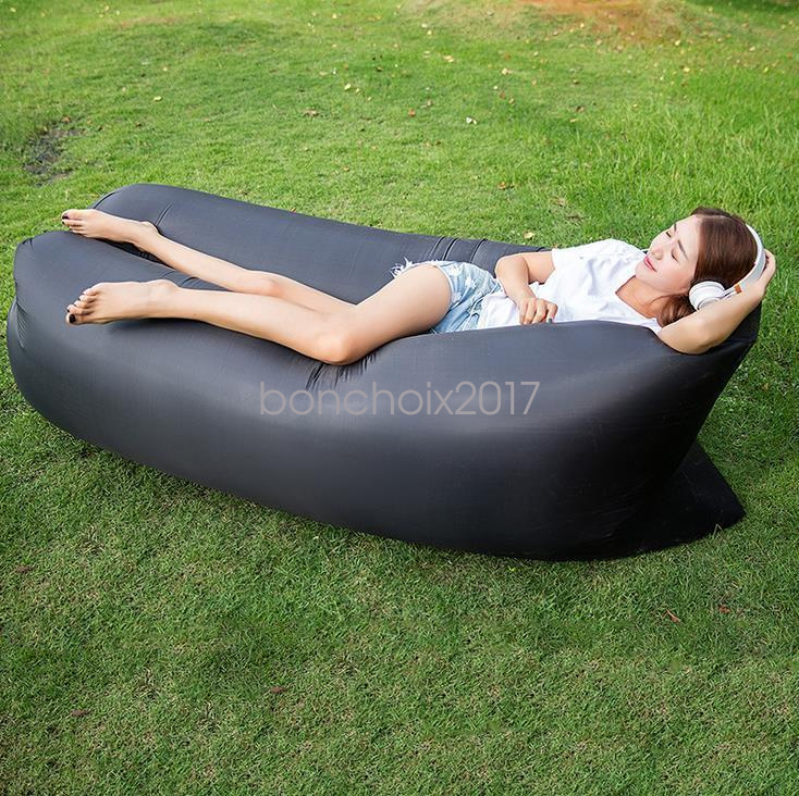 Inflatable Sofa Air Bed Lounger: Lazy Inflatable Air Bed Lounger Sofa Beach Chair Portable