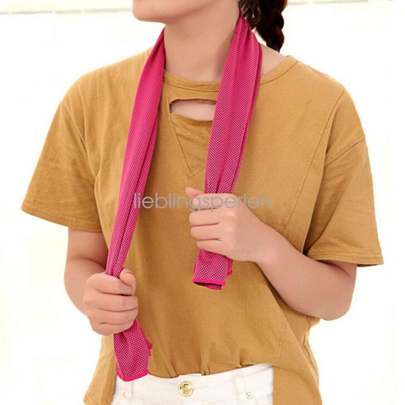 Sommer Kühl Handtuch Eistuch Sport Freien Ice Cold kühlen Tuch Reusable 9 Farbe