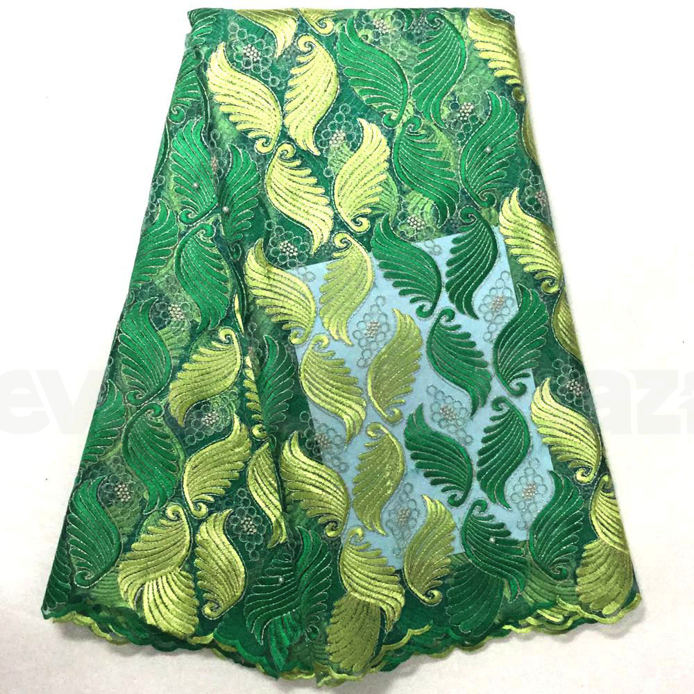 African tulle french lace bead embroidery fabric by