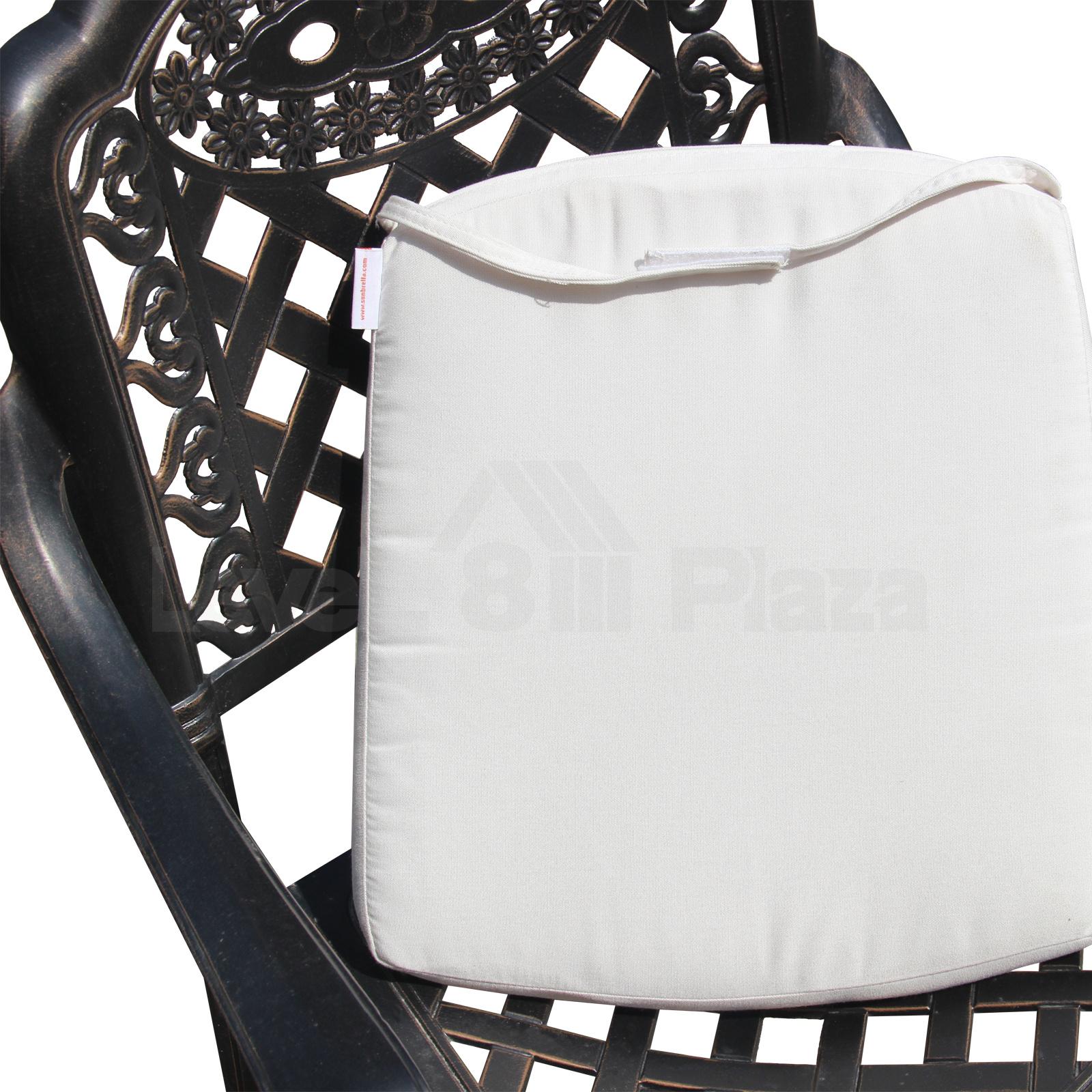 New Sunbrella Outdoor Chair Cushion Tie On Patio Seat Pad