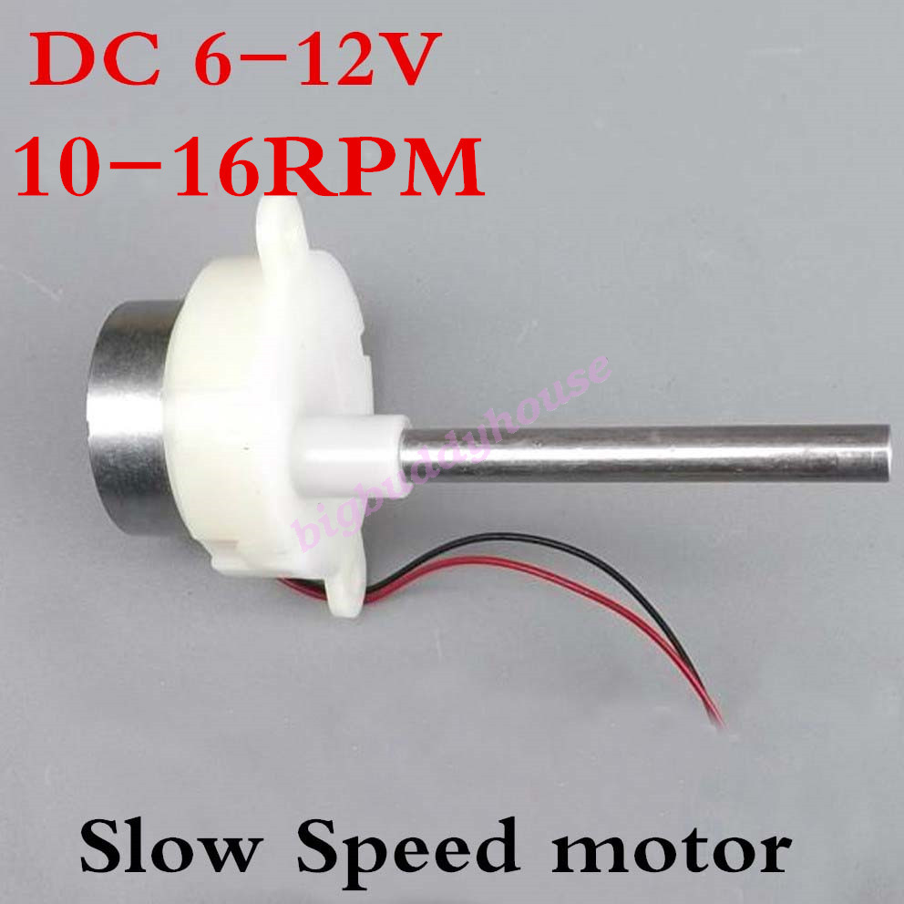 Dc 6v 12v Long Shaft Motor Slow Low Speed Gear Motor Mini