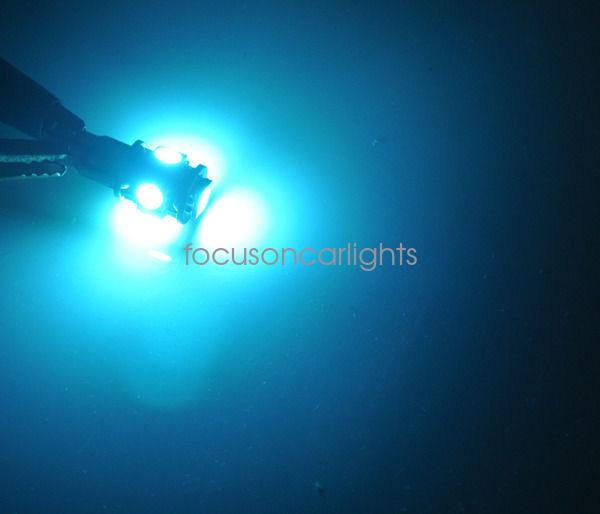 8pcs Bright Ice Blue SMD LED Interior Light Package Kit