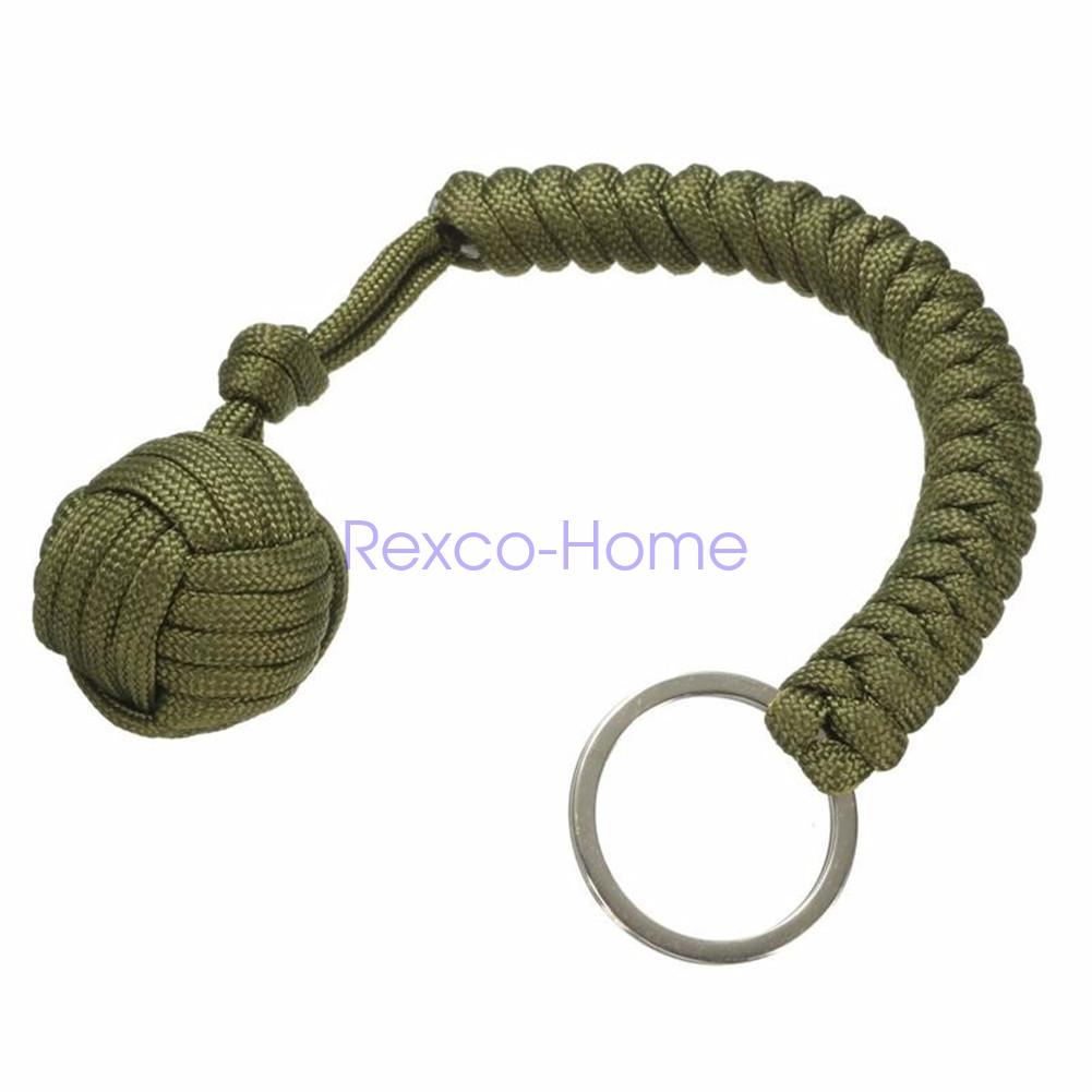 how to make a monkey fist knot keychain