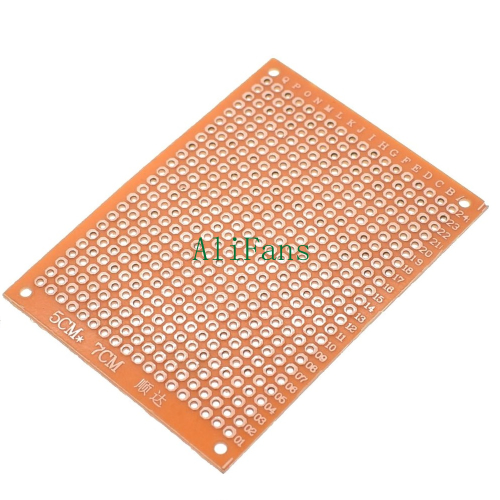 10Pcs 5 x 7 cm DIY Prototype Paper PCB fr4 Universal Board prototyping pcb kit