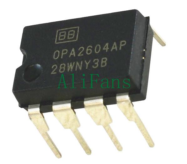 5PCS OPA2604 OPA2604AP OPA2604APG4 OP AMP IC BURR-BROWN//BB//TI DIP-8 NEW