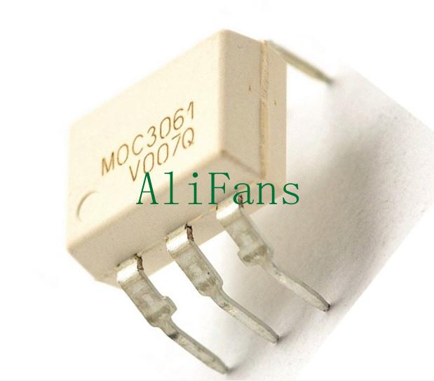 5pcs NEW MOC3061 DIP-6 Zero-Cross Optoisolators Transistor