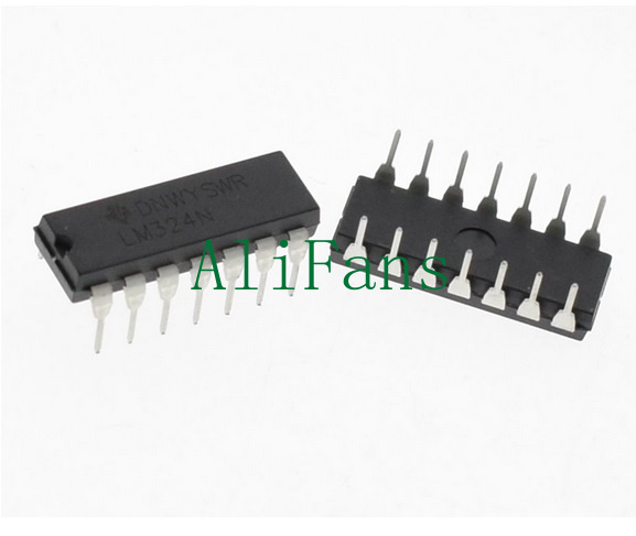 20Pcs LM324N LM324 324 Low Power Quad Op-Amp IC TOP