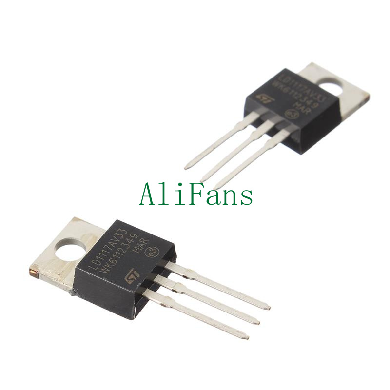 10PCS LD1117V33 Linear Voltage Regulator TO-220 3.3V 800mA