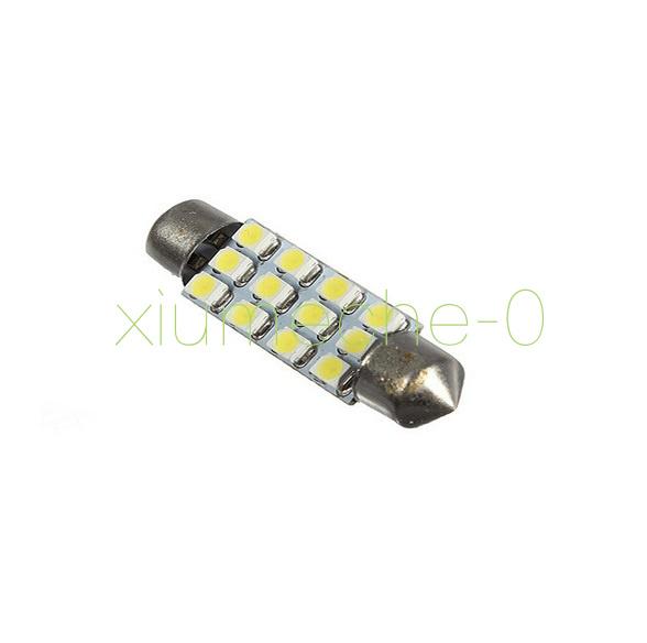 2pcs Car Dome 12 3528-SMD LED Bulb Light Interior Festoon Lamp White Great 42mm