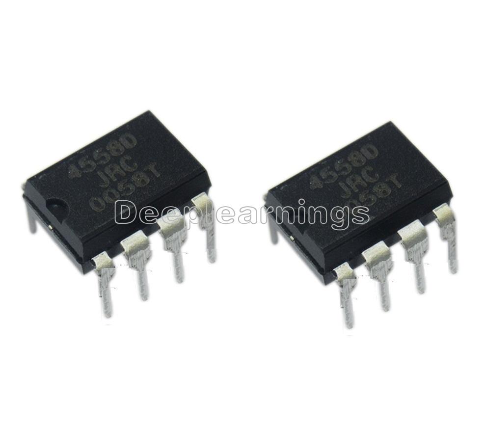 20PCS IC JRC4558D 4558D DIP8 OP AMP DIP8 ESCA LL
