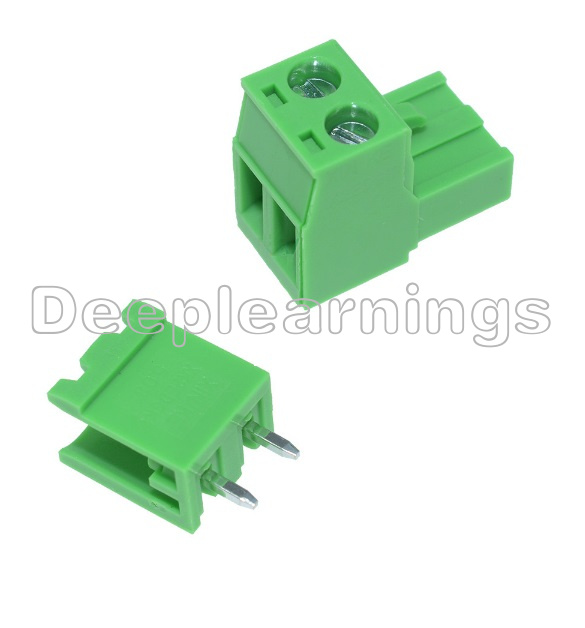 10PCS NEW KF2EDGK KF-2P Right-Angle Plug-in Terminal Connector 5.08mm Pitch T3