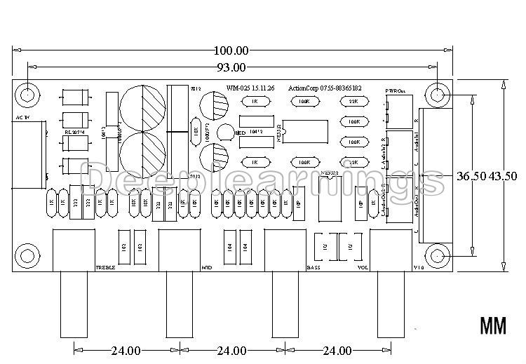 Details about NE5532 Preamp Pre-amplifier Tone Board DIY Kits Treble Alto  Bass Volume Control