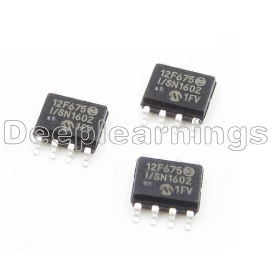 5pcs PIC12F675 PIC12F675-I//SN SOP8 MICROCHIP MCU CMOS FLASH-BASE 8BIT