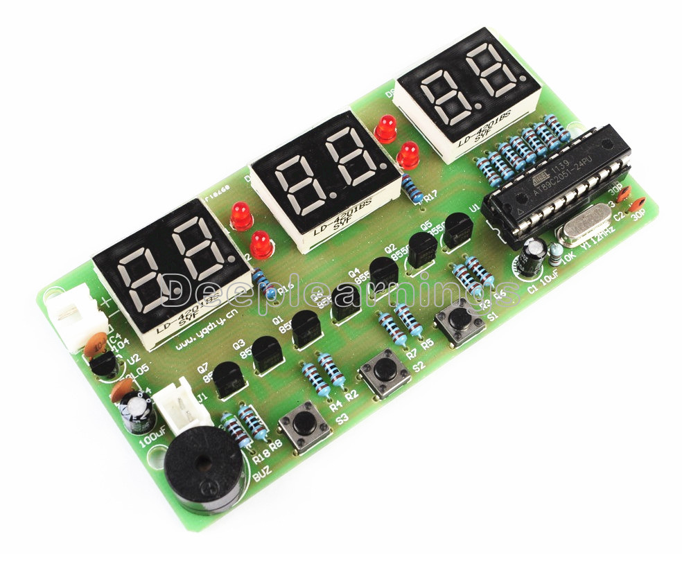 C51 6 Bits Digital Electronic Clock Production Suite Diy Count Down Timer Circuit Using Pic Microcontroller Ycl Makes The Full Use Of Single Chip Resources Which Is Featured With Function Alarm Countdown Stopwatch And Counter